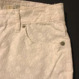 Jones New York Pants - Jones New York Jean, white embroidered ankle jean